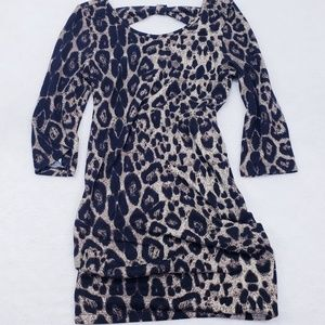EUC Permit Animal Print Dress